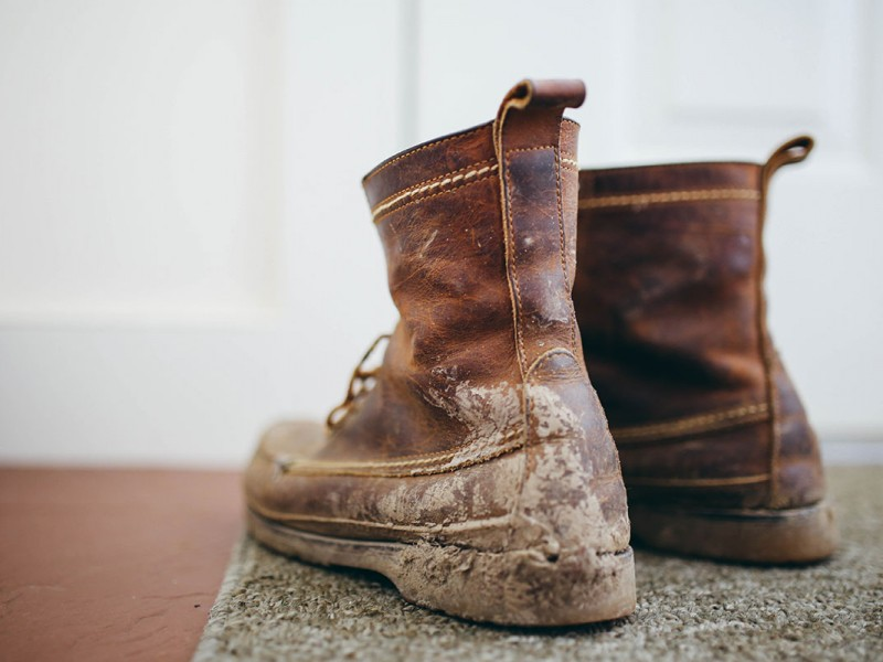 Dirty old boots