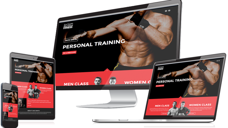 responsive design fitness page