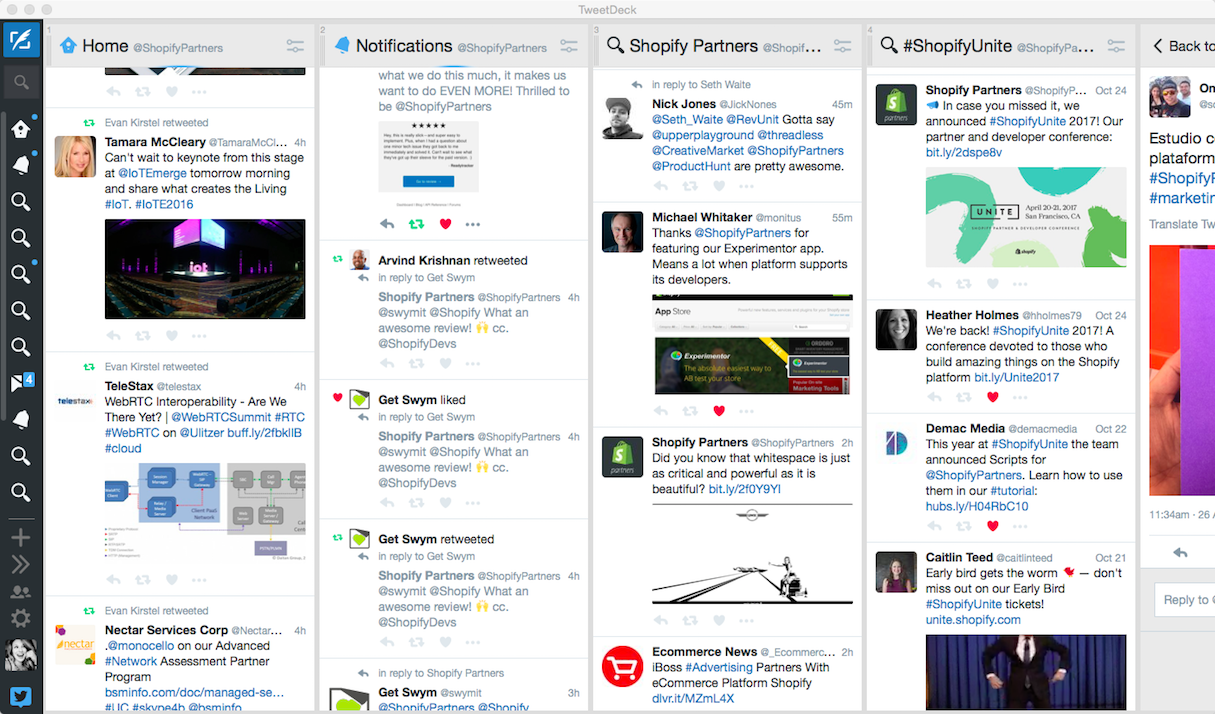social media for freelancers and agencies tweetdeck